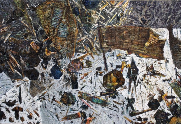 Cheviot Tourmaline 4 , Oil on board 700 x 480mm