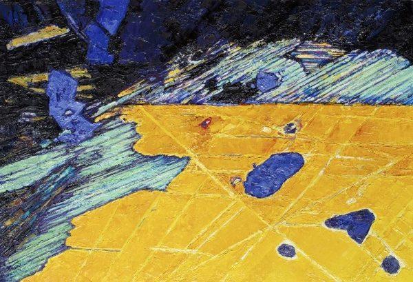 Cushat Steil 1, Oil on board 700 x 480mm