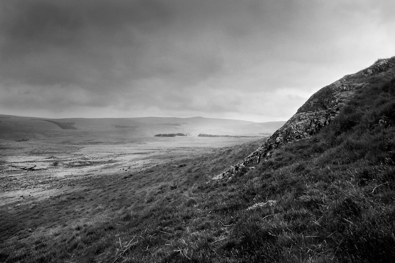 Outcrop, Dunmoor Hill, Cheviot Hills, Northumberland