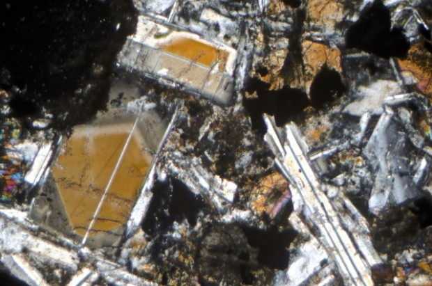 Plagioclase phenocrysts in the South-east sample with calcium-rich cores that have the composition of Bytownite