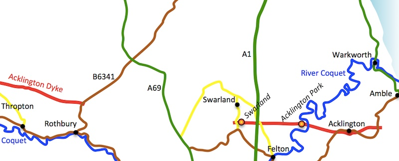 Acklington Map (East)