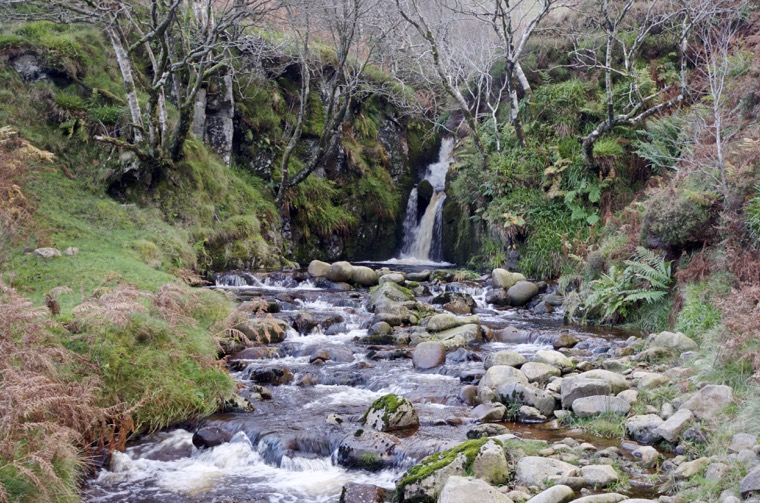 The higher falls at Location 8, Harthope Linn