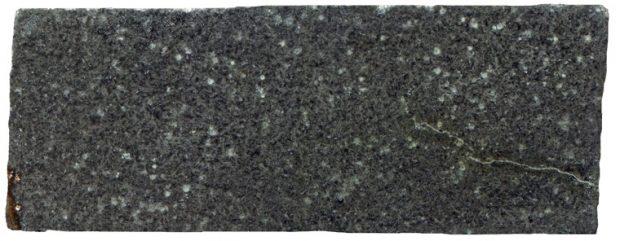 Prepared hand specimen of the Crookdene tholeiite basalt dyke at NY971833. Specimen viewed in reflected light.