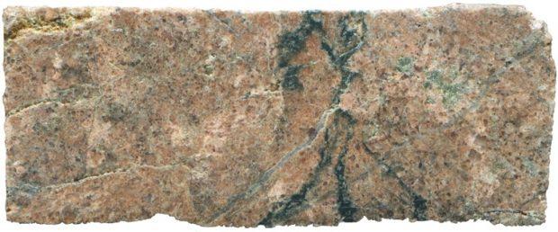 Prepared hand specimen of quartz-rich, tourmaline veined rock at location 1, Harthope Linn viewed in reflected light.
