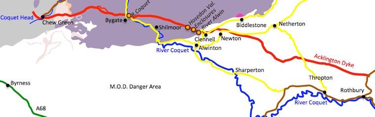 Acklington Map (West)