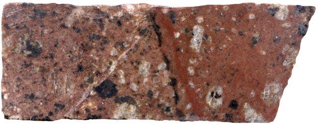 Contact between the coarser and finer-grained rock