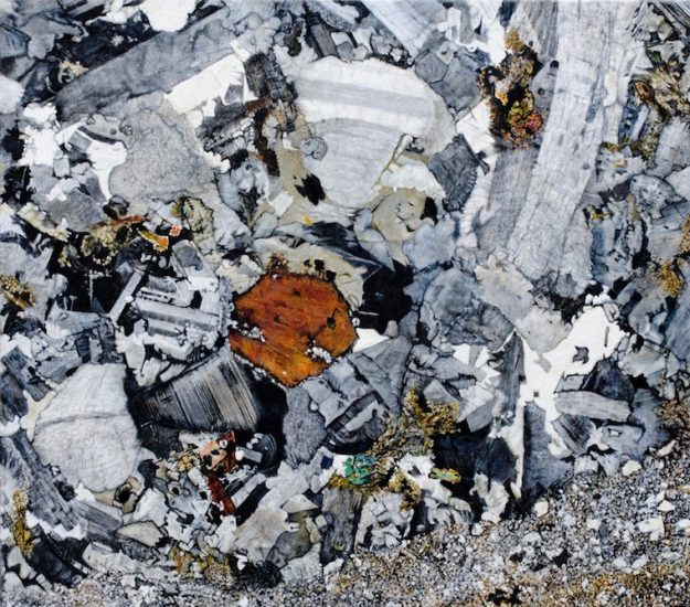 Shielcleugh Granite, Oil on canvas 801 x 800 mm