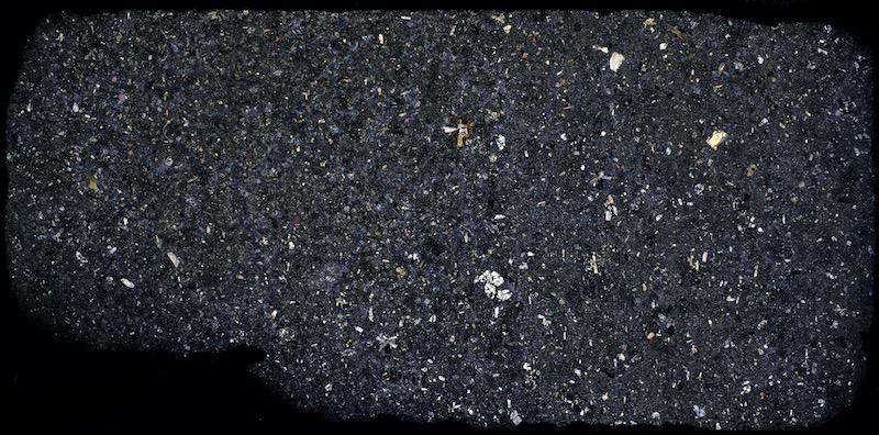 Nepheline basanite, Southdean Law south quarry XP