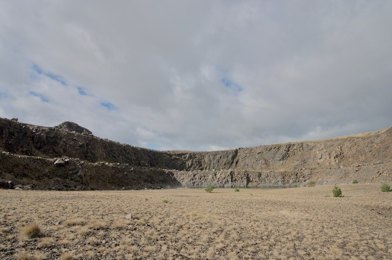 Dunion Hill Quarry looking south-west