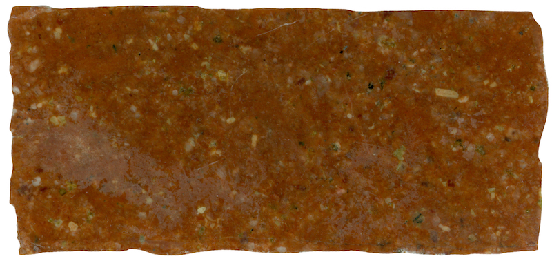 Rock with mix of fine-grained and medium-grained material, Hawsen Burn NT946229 (40mm across)