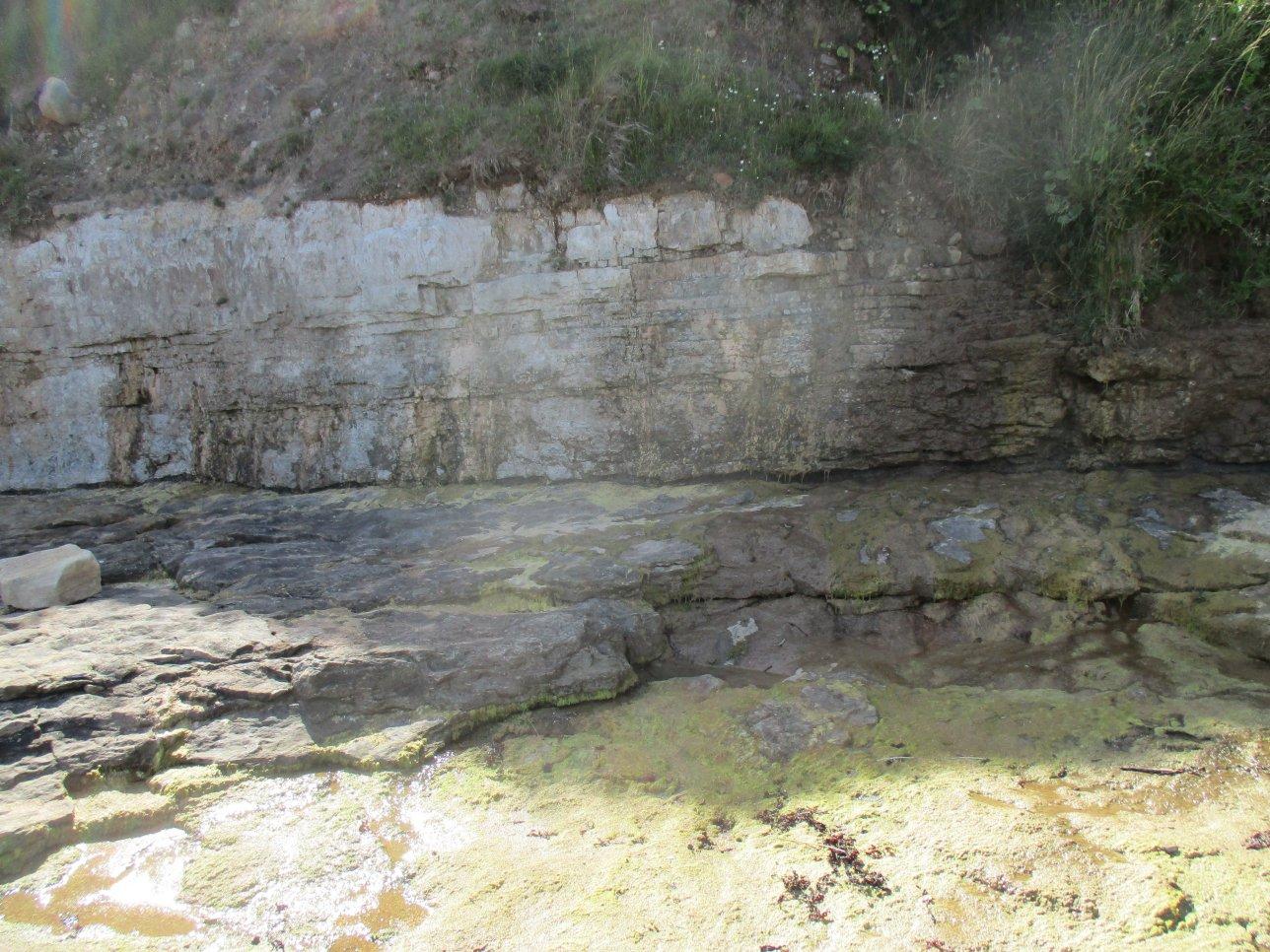 Wider strata. Sugar Sands Limestone