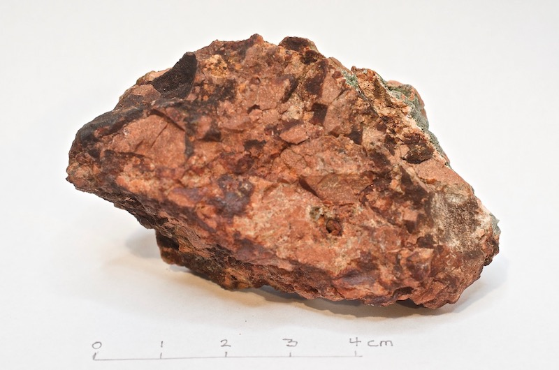 Lapilli tuff, Brough Law. Hand specimen NT997160