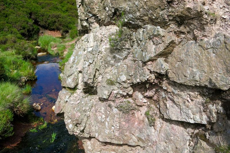 Weak, altered rock, Harthope Valley NT912190