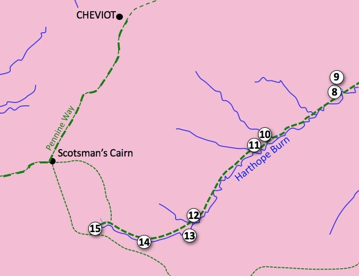 Upper Hathope Valley Excursion Map