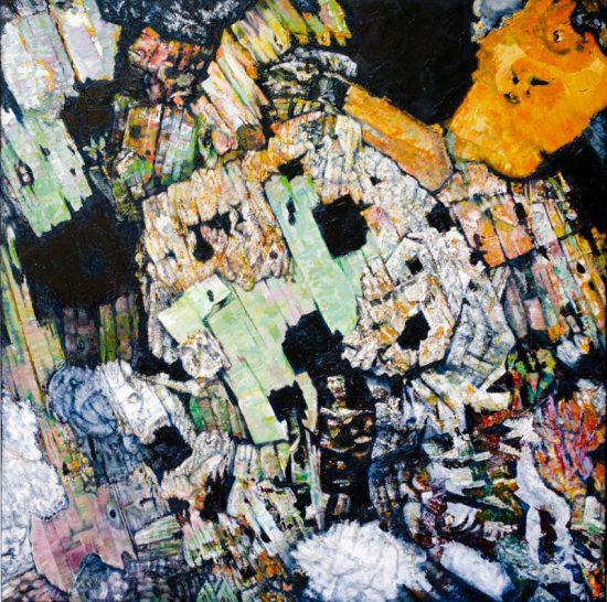 Dunmoor Granite, Oil on canvas 900 x 900mm