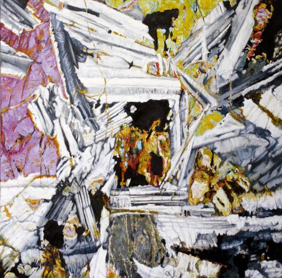 Peniel Heugh Basalt, Oil on canvas 900 x 900mm
