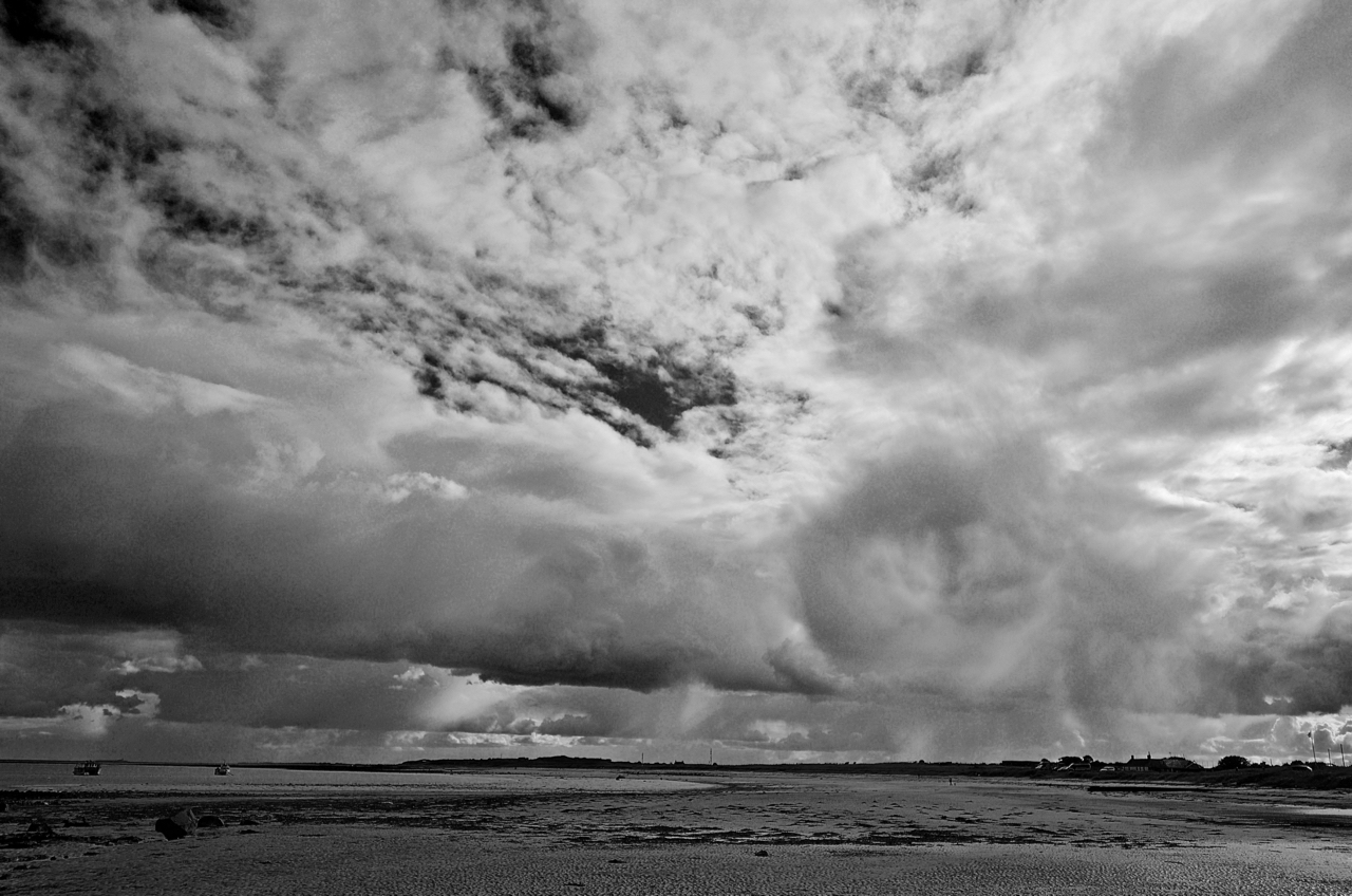 Showers south from Boulmer dyke