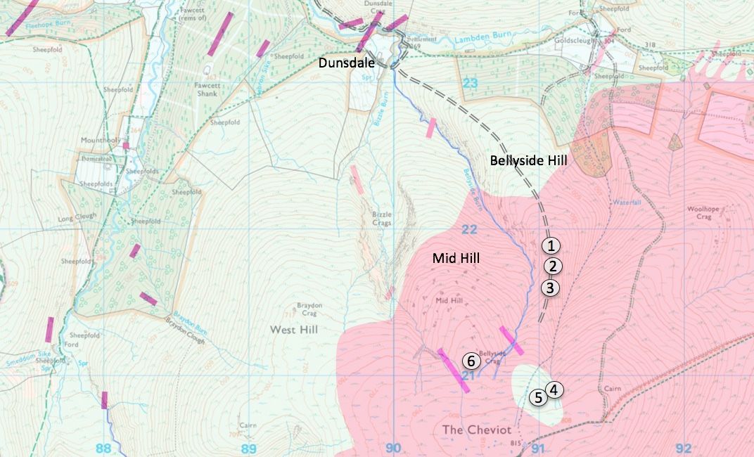 Bellyside Hill Excursion Map